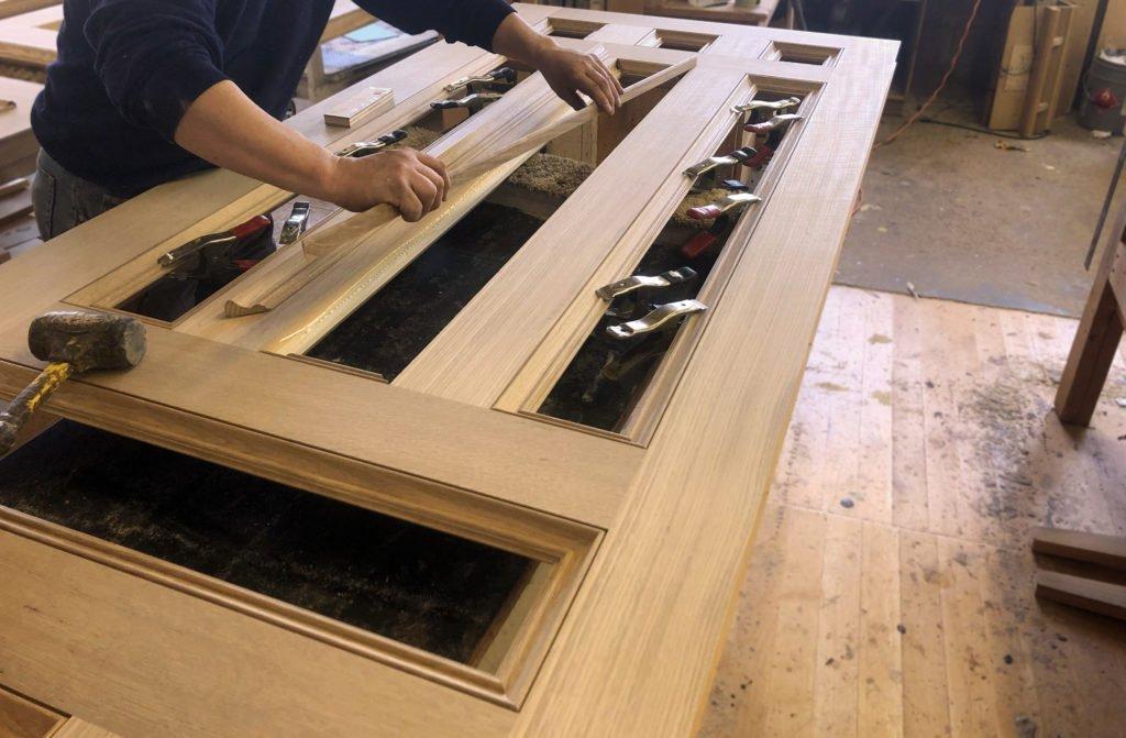 custom white oak door